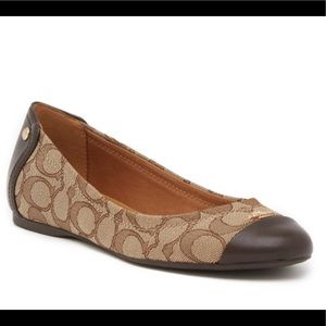 Coach Chelsea Brown Signature Flat